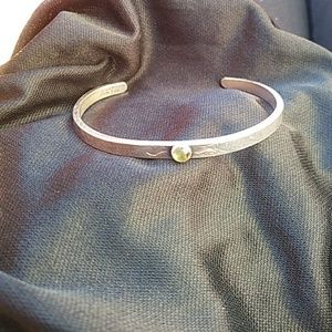 Jewelry - Beautiful Sterling Peridot L. Moran Cuff Bracelet